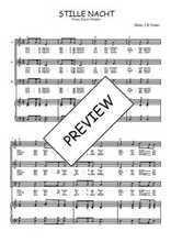 Téléchargez la partition de Stille Nacht en PDF pour 3 voix SAB et piano