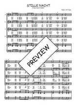Téléchargez la partition de Stille Nacht en PDF pour 4 voix SATB et piano