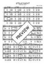 Téléchargez l'arrangement de la partition de Traditionnel-Stille-Nacht en PDF à quatre voix