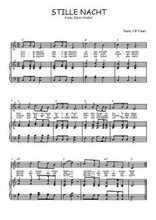 Téléchargez la partition de Stille Nacht en PDF pour Chant et piano