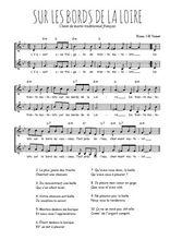 Téléchargez l'arrangement de la partition de Traditionnel-Sur-les-bords-de-la-Loire en PDF à deux voix