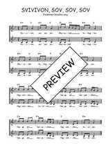 Téléchargez l'arrangement de la partition de Traditionnel-Svivivon-sov-sov-sov en PDF à deux voix