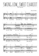 Téléchargez l'arrangement de la partition de Traditionnel-Swing-low-sweet-chariot en PDF à deux voix