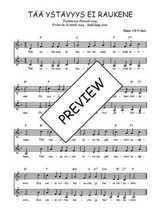 Téléchargez l'arrangement de la partition de Traditionnel-Taa-ystavyys-ei-raukene en PDF à deux voix