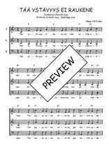 Téléchargez l'arrangement de la partition de Traditionnel-Taa-ystavyys-ei-raukene en PDF à trois voix