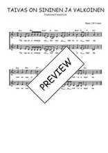 Téléchargez l'arrangement de la partition de Traditionnel-Taivas-on-sininen-ja-valkoinen en PDF à deux voix