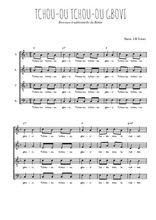 Téléchargez l'arrangement de la partition de Traditionnel-Tchou-ou-tchou-ou-gbovi en PDF à quatre voix