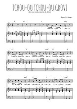 Téléchargez la partition de Tchou-ou tchou-ou gbovi en PDF pour Chant et piano