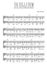 Téléchargez l'arrangement de la partition de Traditionnel-The-foggy-dew en PDF à deux voix