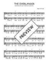 Téléchargez l'arrangement de la partition de Traditionnel-The-overlander en PDF à deux voix