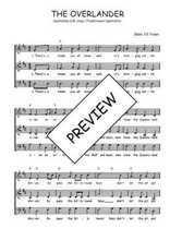 Téléchargez l'arrangement de la partition de Traditionnel-The-overlander en PDF à trois voix