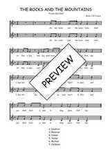 Téléchargez l'arrangement de la partition de Traditionnel-The-rocks-and-the-mountains en PDF à deux voix