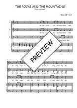 Téléchargez la partition de The rocks and the mountains en PDF pour 3 voix SAB et piano