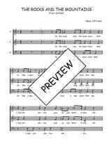 Téléchargez l'arrangement de la partition de Traditionnel-The-rocks-and-the-mountains en PDF à trois voix