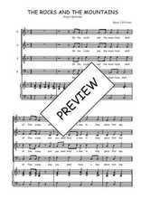 Téléchargez la partition de The rocks and the mountains en PDF pour 4 voix SATB et piano