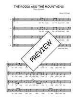 Téléchargez l'arrangement de la partition de Traditionnel-The-rocks-and-the-mountains en PDF à quatre voix
