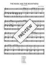 Téléchargez la partition de The rocks and the mountains en PDF pour Chant et piano