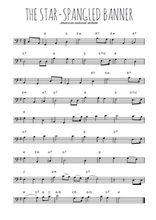 Téléchargez la partition de hymne-americain-the-star-spangled-banner en clef de fa