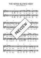 Téléchargez l'arrangement de la partition de Traditionnel-The-wind-blows-high en PDF à deux voix