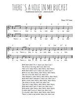 Téléchargez l'arrangement de la partition de Traditionnel-There-s-a-hole-in-my-bucket en PDF à deux voix