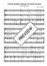 Téléchargez la partition de These bones going to rise again en PDF pour 2 voix égales et piano