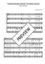 Téléchargez la partition de These bones going to rise again en PDF pour 3 voix SAB et piano