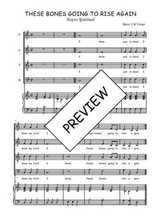 Téléchargez la partition de These bones going to rise again en PDF pour 4 voix SATB et piano