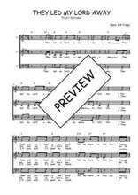 Téléchargez l'arrangement de la partition de Traditionnel-They-led-my-Lord-away en PDF à trois voix