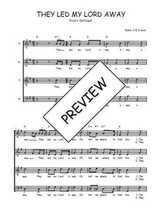 Téléchargez l'arrangement de la partition de Traditionnel-They-led-my-Lord-away en PDF à quatre voix