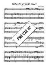 Téléchargez la partition de They led my Lord away en PDF pour Chant et piano