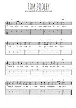 Téléchargez la tablature de la musique Traditionnel-Tom-Dooley en PDF