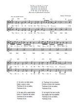 Téléchargez l'arrangement de la partition de berceuse-bretonne-toutouic en PDF à deux voix