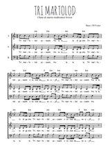 Téléchargez l'arrangement de la partition de chant-de-marin-tri-martolod en PDF à trois voix