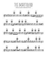 Téléchargez la partition en Sib de la musique chant-de-marin-tri-martolod en PDF