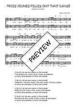 Téléchargez l'arrangement de la partition de Traditionnel-Trois-jeunes-filles-ont-tant-danse en PDF à deux voix