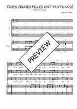 Téléchargez la partition de Trois jeunes filles ont tant dansé en PDF pour 3 voix SAB et piano