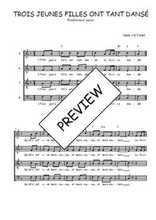 Téléchargez l'arrangement de la partition de Traditionnel-Trois-jeunes-filles-ont-tant-danse en PDF à quatre voix