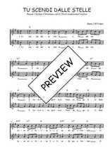 Téléchargez l'arrangement de la partition de Traditionnel-Tu-scendi-dalle-stelle en PDF à deux voix