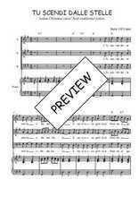 Téléchargez la partition de Tu scendi dalle stelle en PDF pour 3 voix SAB et piano