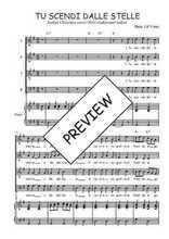 Téléchargez la partition de Tu scendi dalle stelle en PDF pour 4 voix SATB et piano