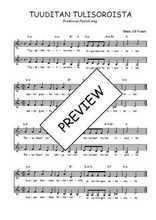 Téléchargez l'arrangement de la partition de Traditionnel-Tuuditan-tulisoroista en PDF à deux voix