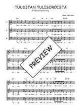 Téléchargez l'arrangement de la partition de Traditionnel-Tuuditan-tulisoroista en PDF à trois voix