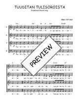 Téléchargez l'arrangement de la partition de Traditionnel-Tuuditan-tulisoroista en PDF à quatre voix