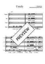 Téléchargez l'arrangement de la partition de Traditionnel-Umele en PDF à quatre voix