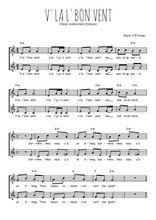 Téléchargez l'arrangement de la partition de Traditionnel-V-la-l-bon-vent en PDF à deux voix
