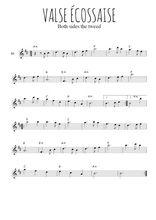 Téléchargez la partition en Sib de la musique valse-ecossaise en PDF