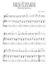 Téléchargez la partition de Valse écossaise en PDF pour Mélodie et piano