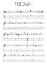 Téléchargez la tablature de la musique valse-ecossaise en PDF