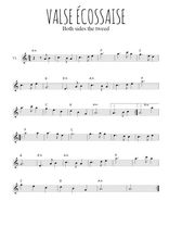 Téléchargez la partition de la musique valse-ecossaise en PDF, pour violon