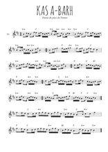 Téléchargez la partition pour saxophone en Mib de la musique bretagne-ka-a-barh en PDF
